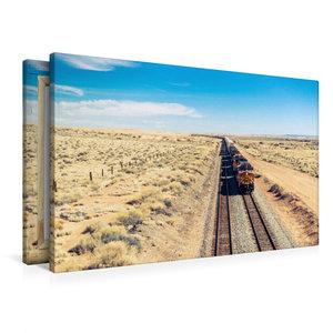 Premium Textil-Leinwand 90 cm x 60 cm quer Pacific Railroad