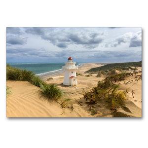 Premium Textil-Leinwand 90 cm x 60 cm quer Pouto Point Lighthous