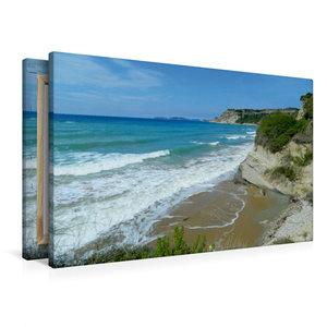 Premium Textil-Leinwand 90 cm x 60 cm quer Strand von Arillas