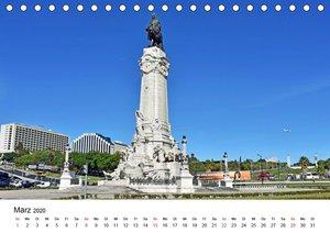 LISSABON und die Atlantikküste (Tischkalender 2020 DIN A5 quer)