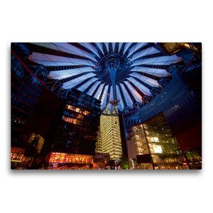 Premium Textil-Leinwand 75 cm x 50 cm quer Sony Center / Berlin