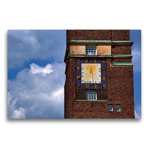 Premium Textil-Leinwand 75 cm x 50 cm quer Sonnenuhr am Hochzeit