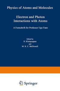 Electron and Photon Interactions with Atoms
