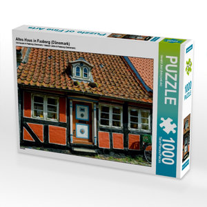 Altes Haus in Faaborg (Dänemark) 1000 Teile Puzzle quer