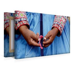 Premium Textil-Leinwand 45 cm x 30 cm quer Weben