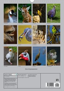 Zoo-Impressionen (Posterbuch DIN A4 hoch)