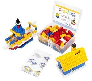 Bausteine Mix Box 200 Teile in Basic Farben in praktischer Aufbe