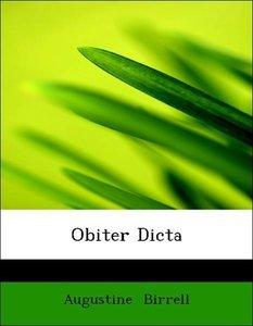 Obiter Dicta