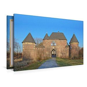 Premium Textil-Leinwand 120 cm x 80 cm quer Burg Vondern in Ober