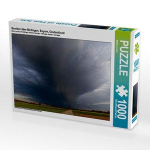 Gewitter über Meitingen, Bayern, Deutschland 1000 Teile Puzzle q