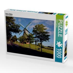 Grüne Mühle 1000 Teile Puzzle quer
