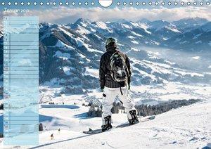 Ski und Snowboard - Leidenschaft im Schnee (Wandkalender 2019 DI