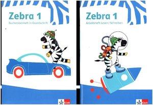 Zebra 1. Paket: Buchstabenheft in Grundschrift, Arbeitsheft Lese