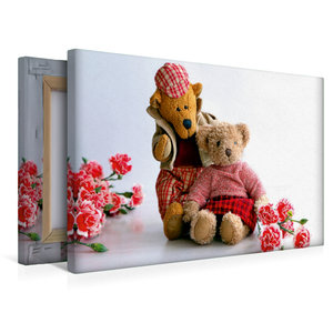 Premium Textil-Leinwand 45 cm x 30 cm quer Teddybären