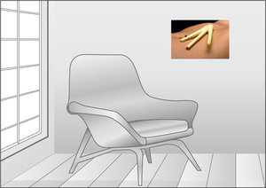 Premium Textil-Leinwand 45 cm x 30 cm quer Zitronengras