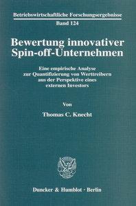 Bewertung innovativer Spin-off-Unternehmen.