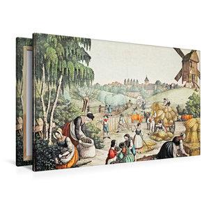 Premium Textil-Leinwand 120 cm x 80 cm quer Feldernte (Sommer),