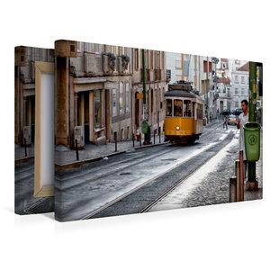 Premium Textil-Leinwand 45 cm x 30 cm quer Lissabon - Linie 21 -