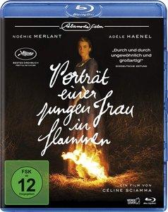 Porträt einer jungen Frau in Flammen. Blu-ray