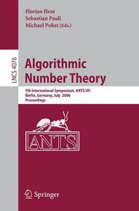 Algorithmic Number Theory