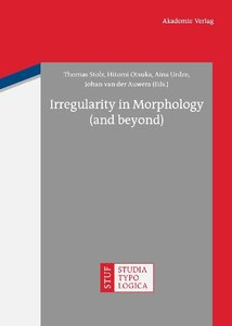 Irregularity in Morphology (and beyond)