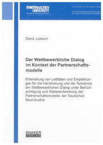 Der Wettbewerbliche Dialog im Kontext der Partnerschaftsmodelle