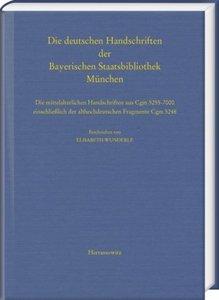 Die deutschen Handschriften der Bayerischen Staatsbibliothek Mün
