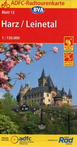 ADFC-Radtourenkarte Harz /Leinetal