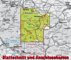 Der Brocken im Nationalpark Hochharz 1 : 25 000