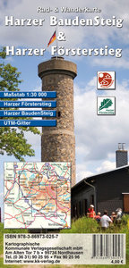 Harzer BaudenSteig & Harzer Försterstieg 1 : 33 000