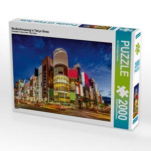 Straßenkreuzung in Tokyo Ginza 2000 Teile Puzzle quer