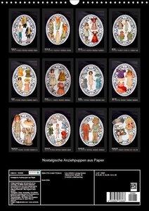 Nostalgische Anziehpuppen aus Papier (Wandkalender 2019 DIN A3 h