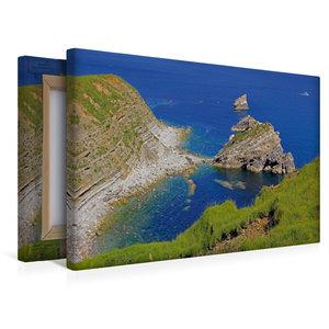 Premium Textil-Leinwand 45 cm x 30 cm quer Jurassic Coast, Dorse