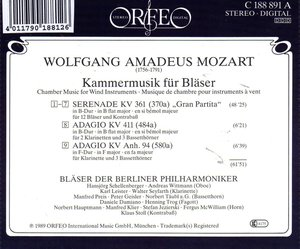 Gran Partita/Adagios-Kammermusik für Bläser