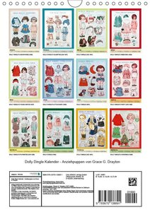 Dolly Dingle Kalender - Anziehpuppen von Grace G. Drayton (Wandk