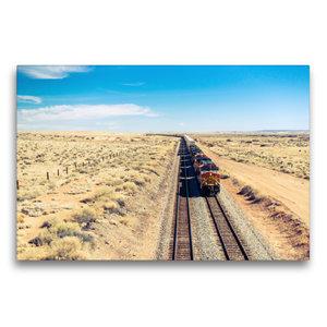 Premium Textil-Leinwand 75 cm x 50 cm quer Pacific Railroad