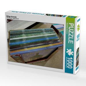 Billige Kalender 1000 Teile Puzzle quer
