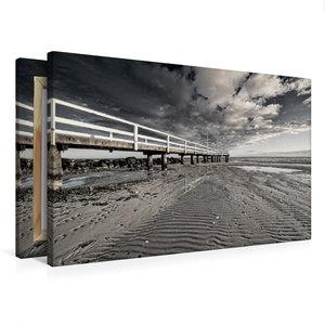 Premium Textil-Leinwand 75 cm x 50 cm quer Ebbe am Strand
