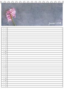 Blumen fürs ganze Jahr - Familienplaner