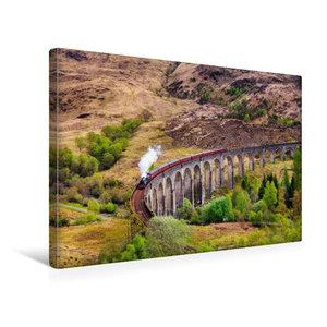 Premium Textil-Leinwand 45 cm x 30 cm quer Glenfinnan Viadukt