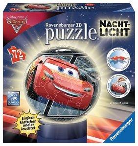 Ravensburger 118168 - Cars 3 Nachtlicht, Puzzle, 3D Puzzleball,