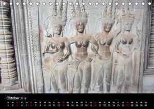 Die Tempelanlagen von Angkor (Tischkalender 2019 DIN A5 quer)