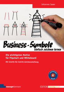 Business-Symbole einfach zeichnen lernen, mit 1 Buch, mit 1 Onli