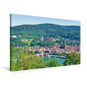 Premium Textil-Leinwand 90 cm x 60 cm quer Heidelberger Altstadt