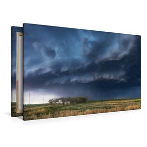 Premium Textil-Leinwand 120 cm x 80 cm quer Gewitteraufzug über