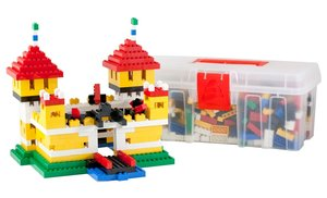 Bausteine Maxi Mix Box 600 Teile in Basic Farben in praktischer