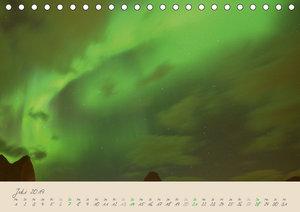 Zauber des Nordlichts - Aurora borealis (Tischkalender 2019 DIN
