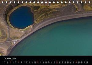Vogelperspektive Island aus der Luft (Tischkalender 2019 DIN A5