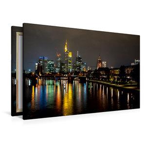 Premium Textil-Leinwand 120 cm x 80 cm quer Frankfurt