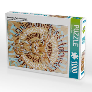 CALVENDO Puzzle Streetart in Paris, Frankreich 1000 Teile Lege-G